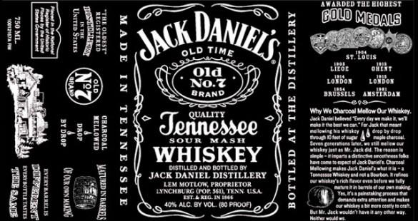 Jack Daniel's label: before