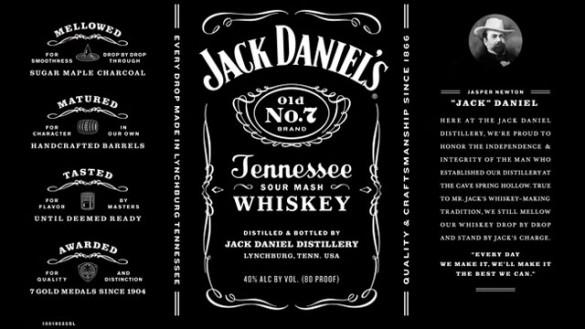 Jack Daniel's label: after