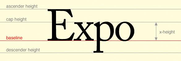 Diagram explaining typographic baseline