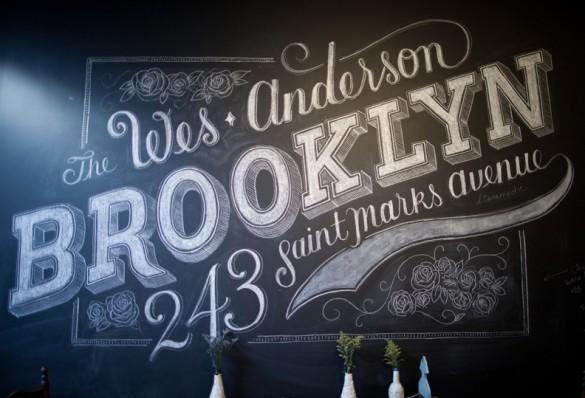 Dana Tanamachi chalk lettering