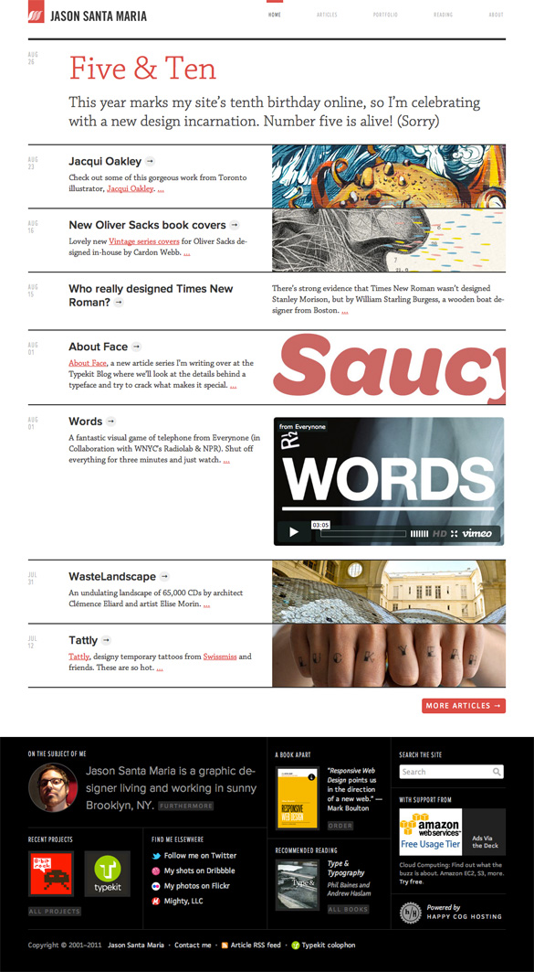 Jason Santa Maria website redesign