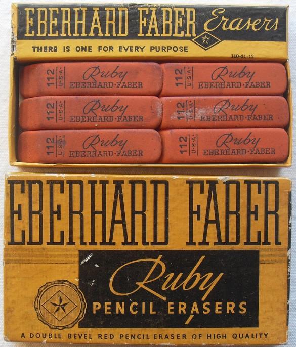 Vintage eraser branding