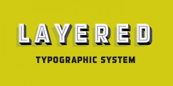 Layered fonts from Match & Kerosene