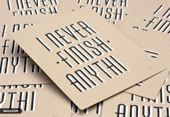 I never finish anythi poster by 55 Hi's