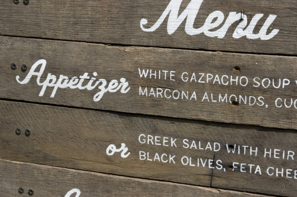 Hand painted signs by Mélangerie Inc.