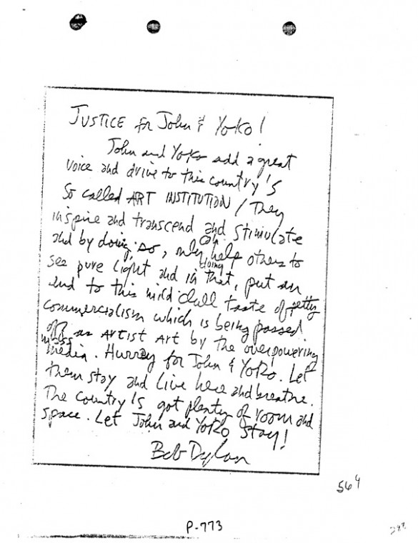 Letters of note: Bob Dylan