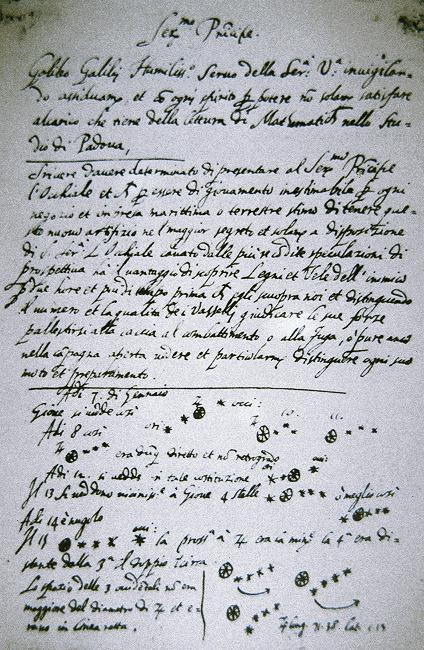 Letters of note: Galileo Galilei