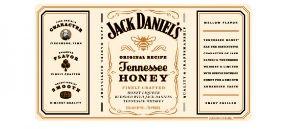 Jack Daniel's Honey label design by Cue
