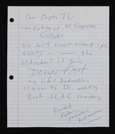 Letters of note: Kurt Cobain