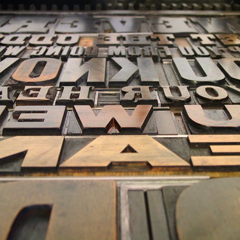 Letterpress posters from Typoretum