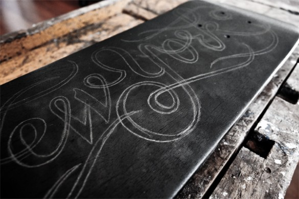 Skateboard deck by Simon Ålander