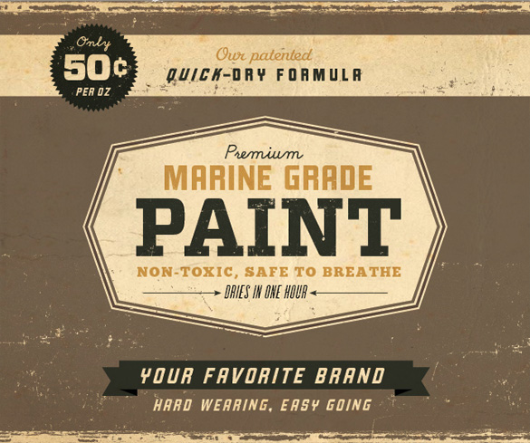 Vintage paint can labels by Dustin Wallace