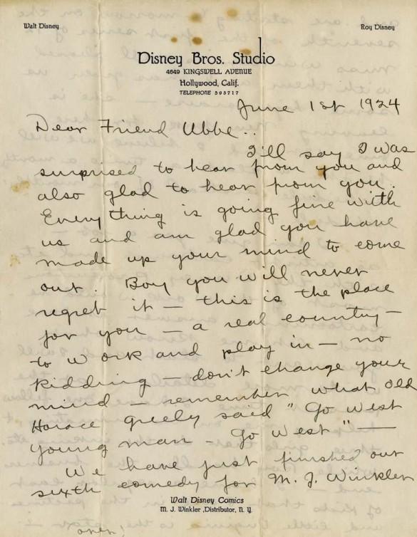 Letters of note: Walt Disney
