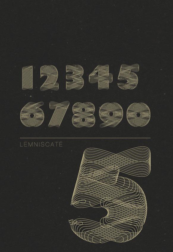 Lemniscate font by Rositsa Gorolova