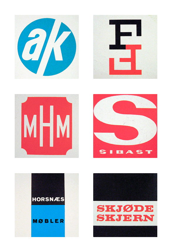 Scandinavian Logos from the 1960s and 70s