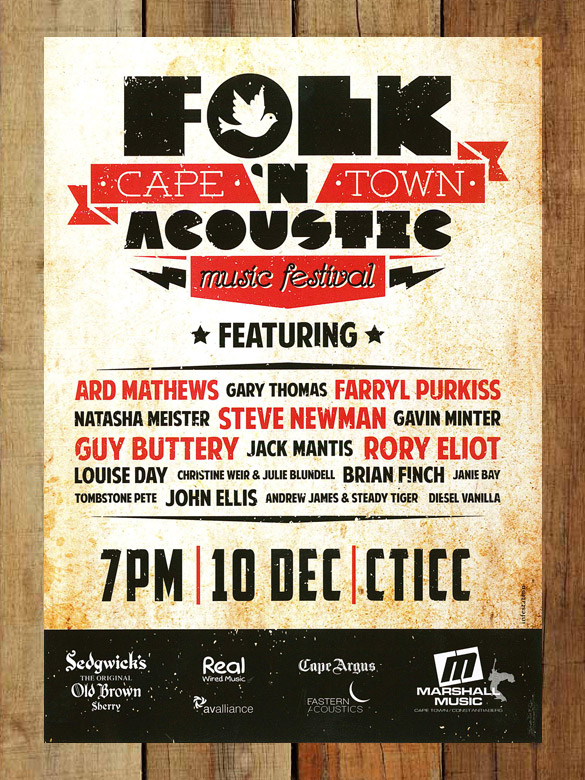 The Cape Town Folk 'n Acoustic Music Festival flyer