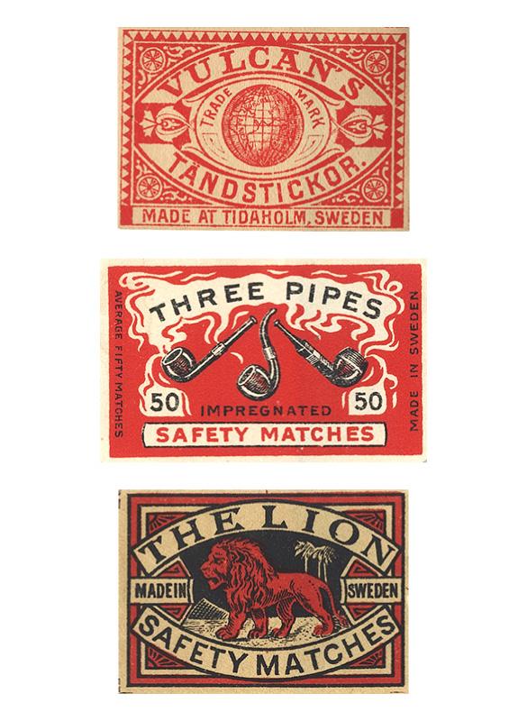 Vintage matchboxes