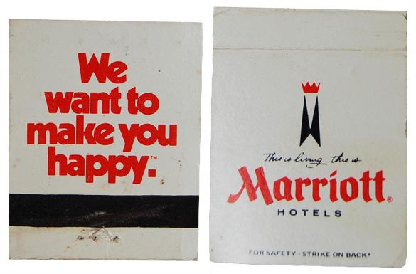 Vintage matchbook